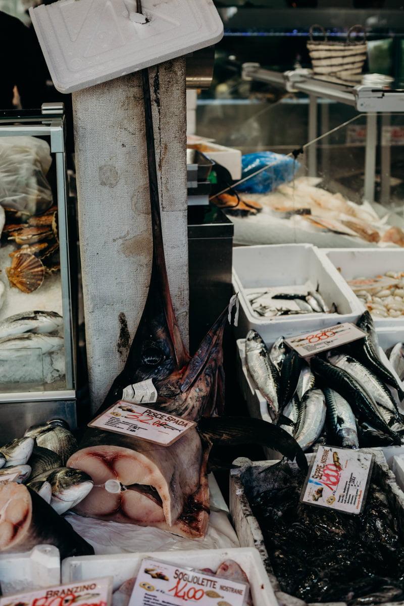 Italy wedding photographer, Venice, fish market