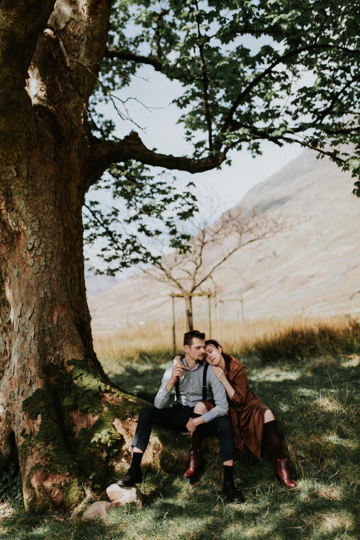 Glencoe Adventurous Couples Photo Session
