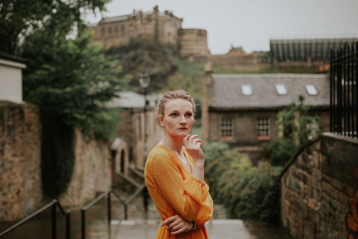 Edinburgh Portrait Photographer - Justyna, Old Town, Armchair Books 2