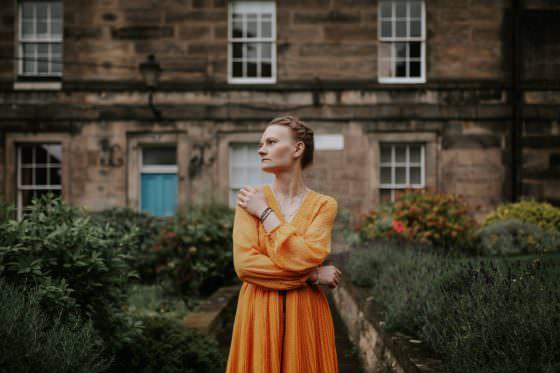 Edinburgh Portrait Photographer - Justyna, Old Town, Armchair Books 1
