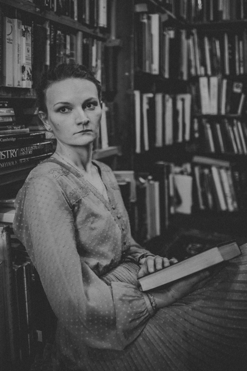 Edinburgh Portrait Photographer, Armchair Books Edinburgh
