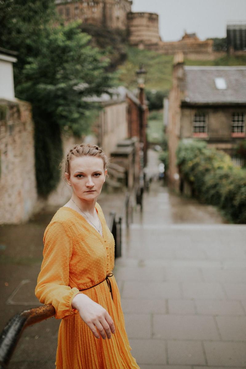 Edinburgh Portrait Photographer - Justyna, Old Town, Armchair Books 5