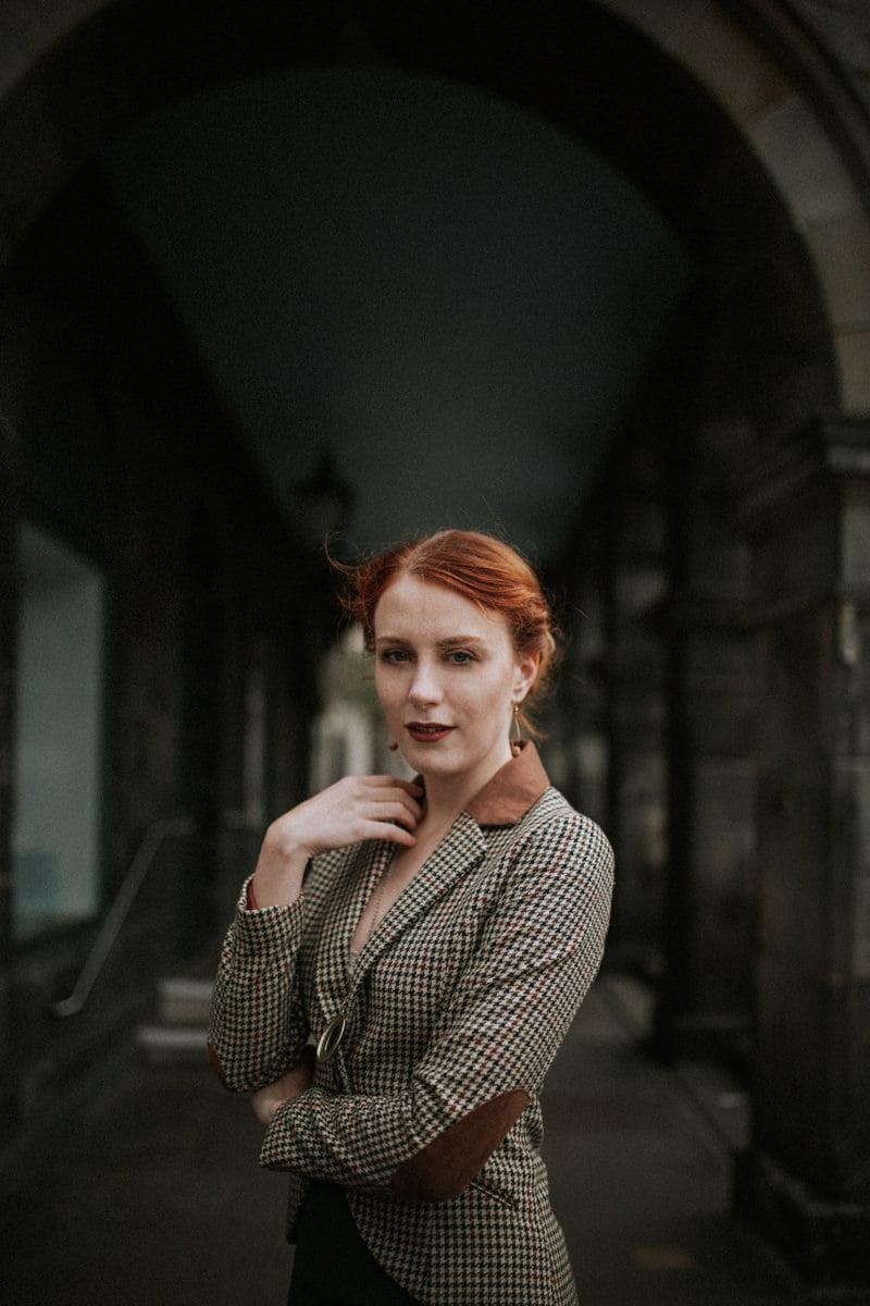 edinburgh portrait photographer, scotland portrait photohgrapher, photographer Edinburgh Scotland, Simple Statements earrings, Victoria Street Edinburgh