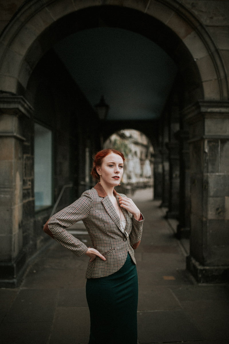 Edinburgh Portrait Photo Session - Anne, Edinburgh Old Town