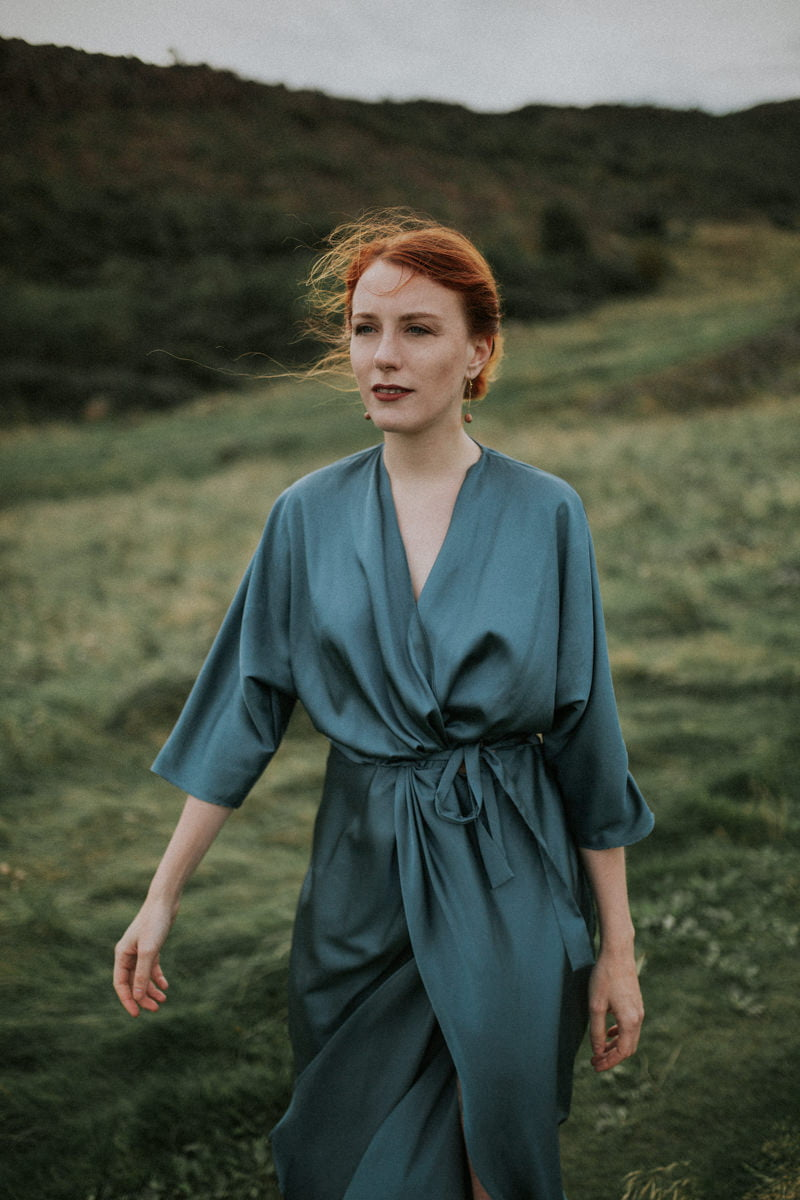 edinburgh portrait photographer, scotland portrait photohgrapher, photographer Edinburgh Scotland, Arthur's Seat, twist&tango dress, Simple Statements earrings