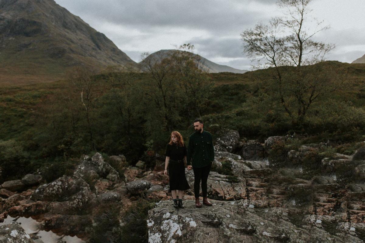 Adventurous Couples Photoshoot in Glencoe - Rachel and Tonie