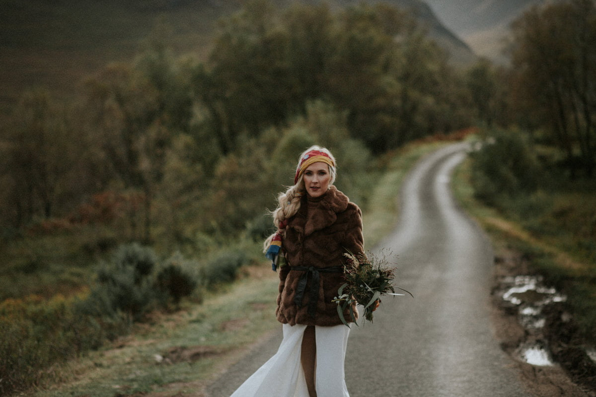 Glencoe wedding session, Glencoe, Glencoe wedding, Glencoe bride, boho bride, Glencoe elope,