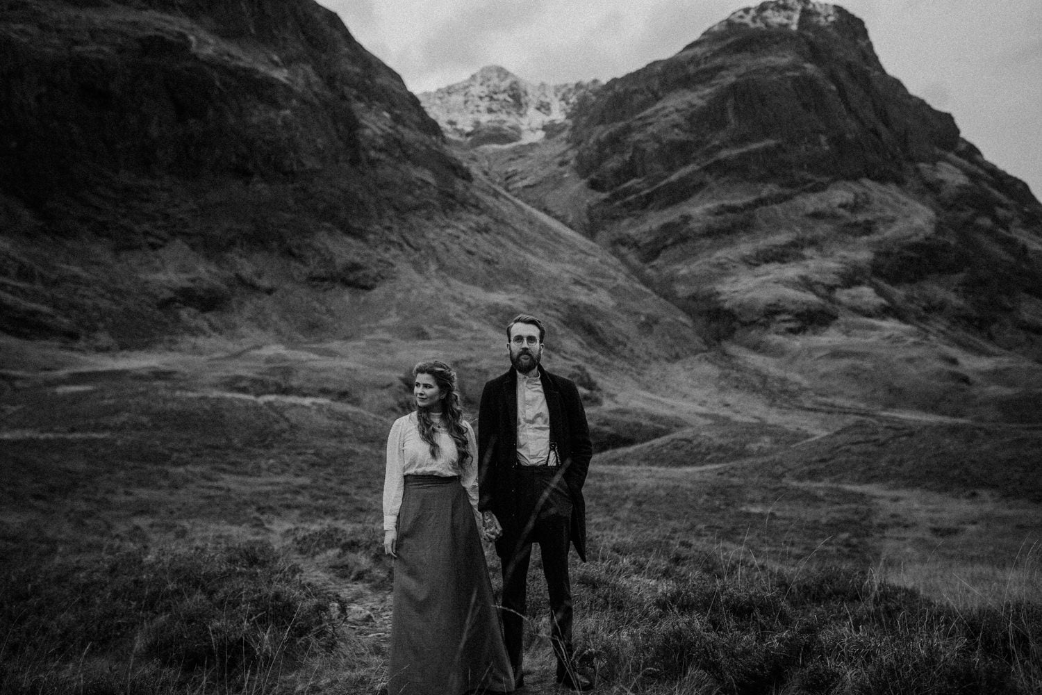 Glencoe, Three Sisters, Glecoe elopement, Scottish Highlands elopement, Scottish Highlands, Glencoe photography, Glencoe wedding, Glencoe wedding photographer, Glencoe wedding photos, Glencoe elopement, Bernadeta Kupiec, Darcy Clothing