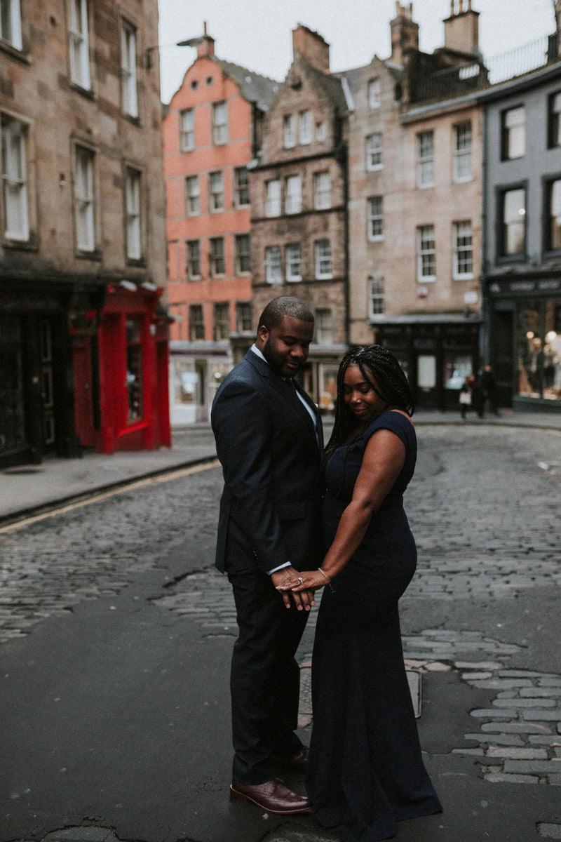 Edinburgh Engagement Photoshoot, Edinburgh Engagement Photographer - Chanae & Kenneth, Victoria Terrace