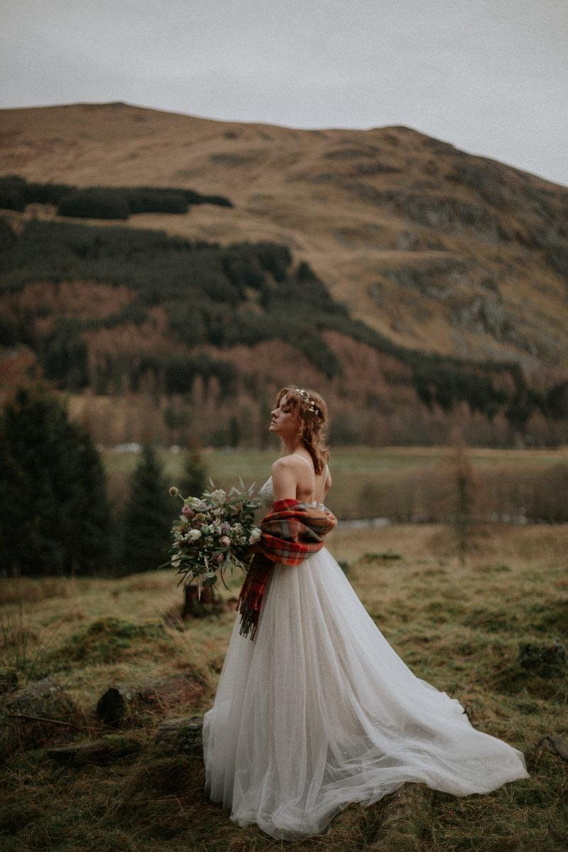Clova wedding, Intimate Scotland Wedding Photographer - Boho Wedding, Scottish Highlands Elopement