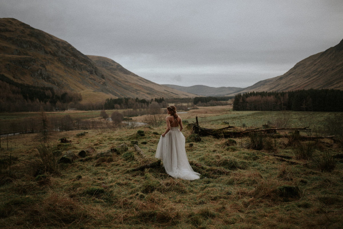 boho wedding in Scotland