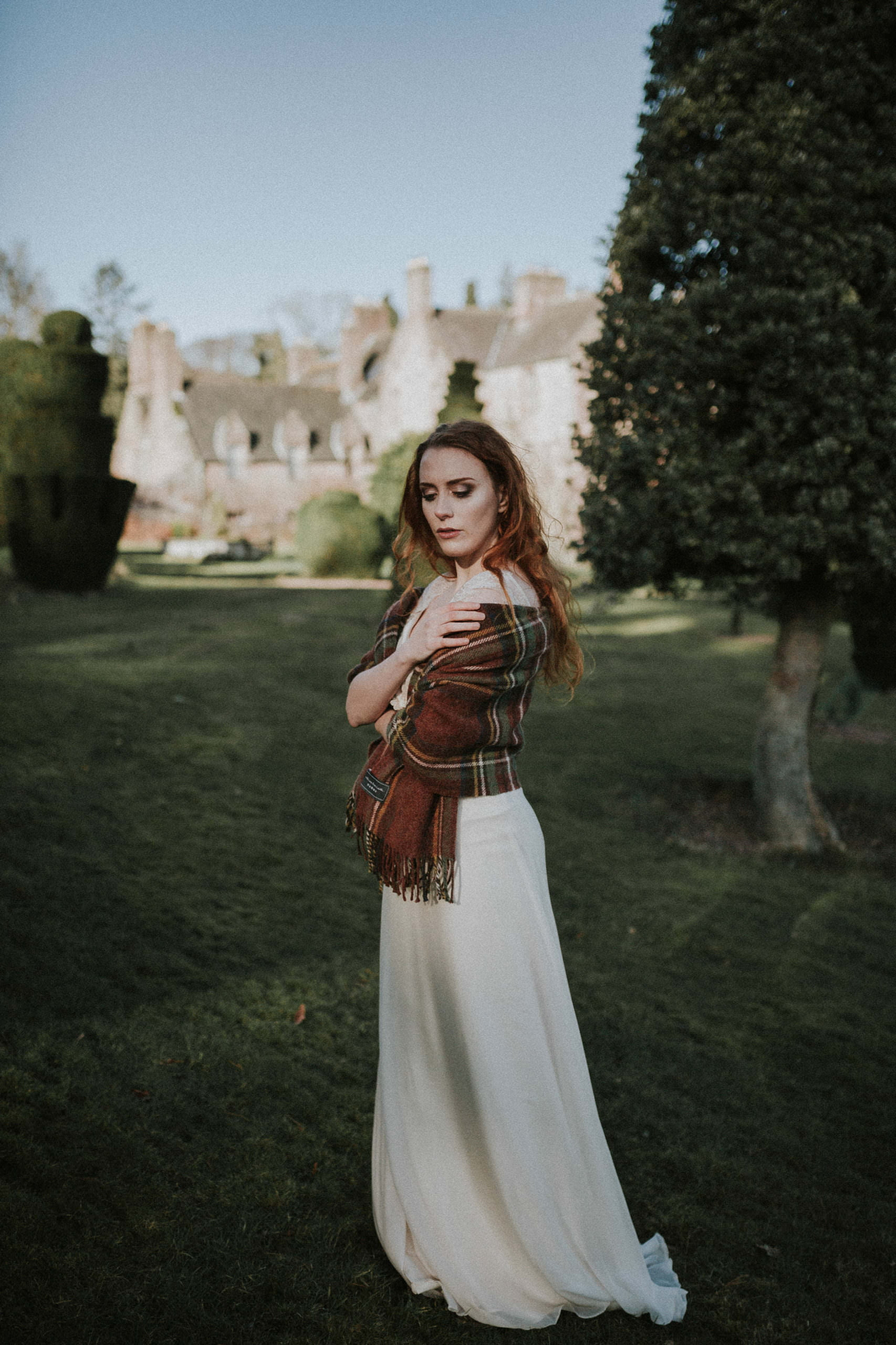Fingask Castle Wedding - Anne in a Flossy and Dossy wedding dress