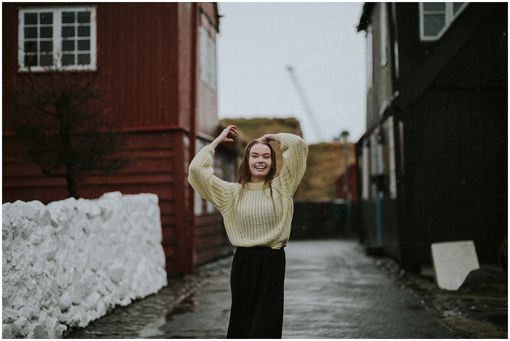 Faroe Islands portrait photographer, Emilia in Tórshavn