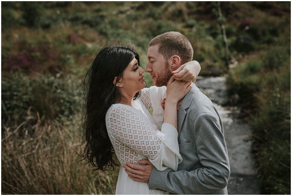 Adventurous Couples Photo Shoot in Galloway Forest Park, Loch Troll