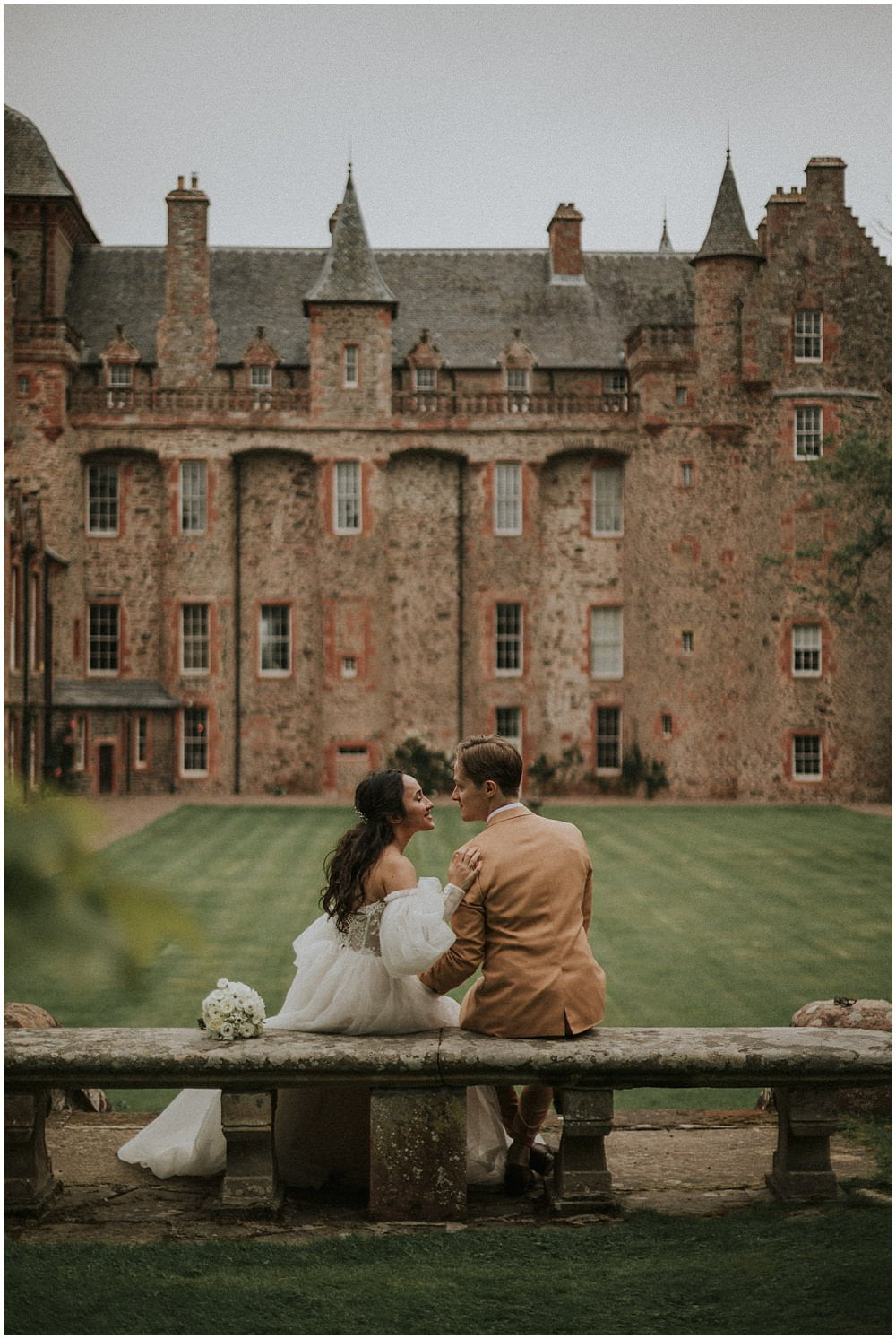 Thirlestane Castle Wedding, Scottish Borders Wedding Photographer , The Flower Room Florist Kelso, Tatiana Kaplun Bride Collection, Twisted Tailor