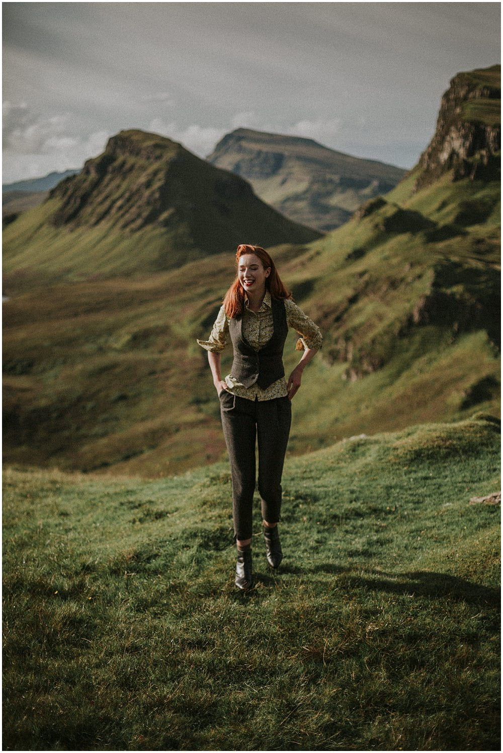 Emma in Walker Slater women clothes, Isle of Skye photographer, The Quiraing