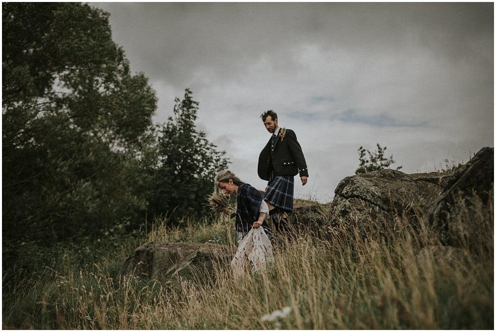 Arthur's Seat Edinburgh Elopement Photographer