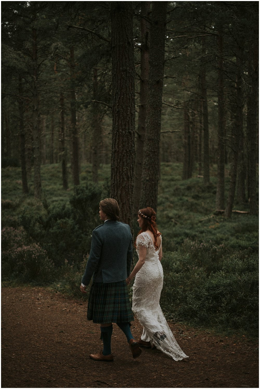 Loch Garten Scotland Forest Elopement, by Bernadeta Kupiec, Cairngorms National Park Elopement, Micro Wedding Scotland, Intimate wedding Scotland