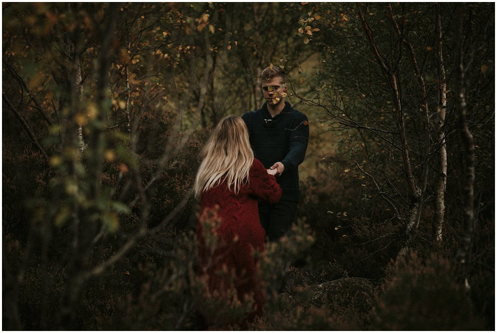 Adventurous Glencoe Engagement Photoshoot