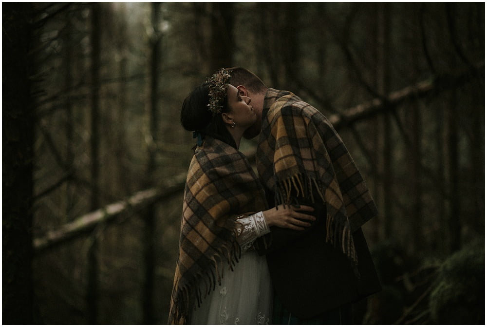 Glen Etive Scotland Forest Elopement – Julija & Adam