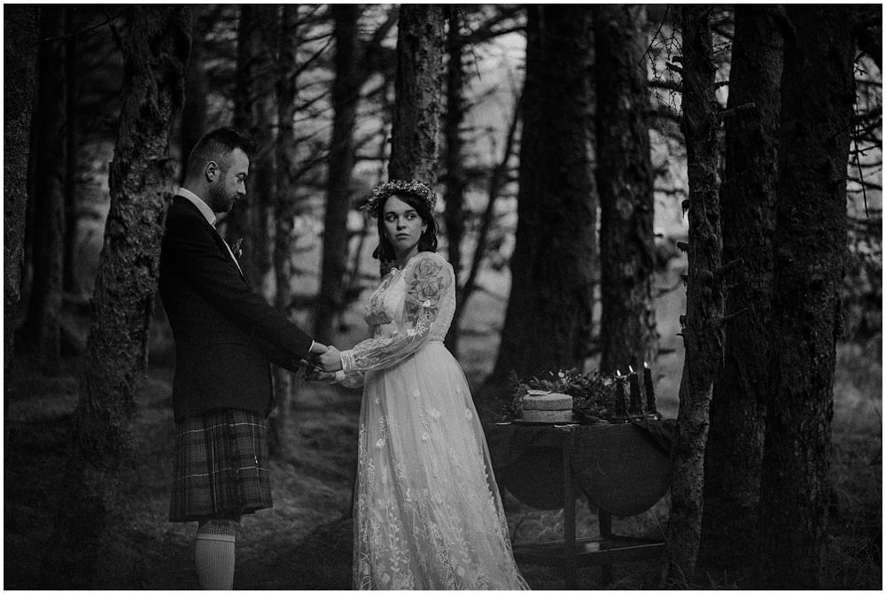 Glen Etive Scotland Forest Elopement - Julija & Adam, Glen Etive Scotland Elopement Photographer