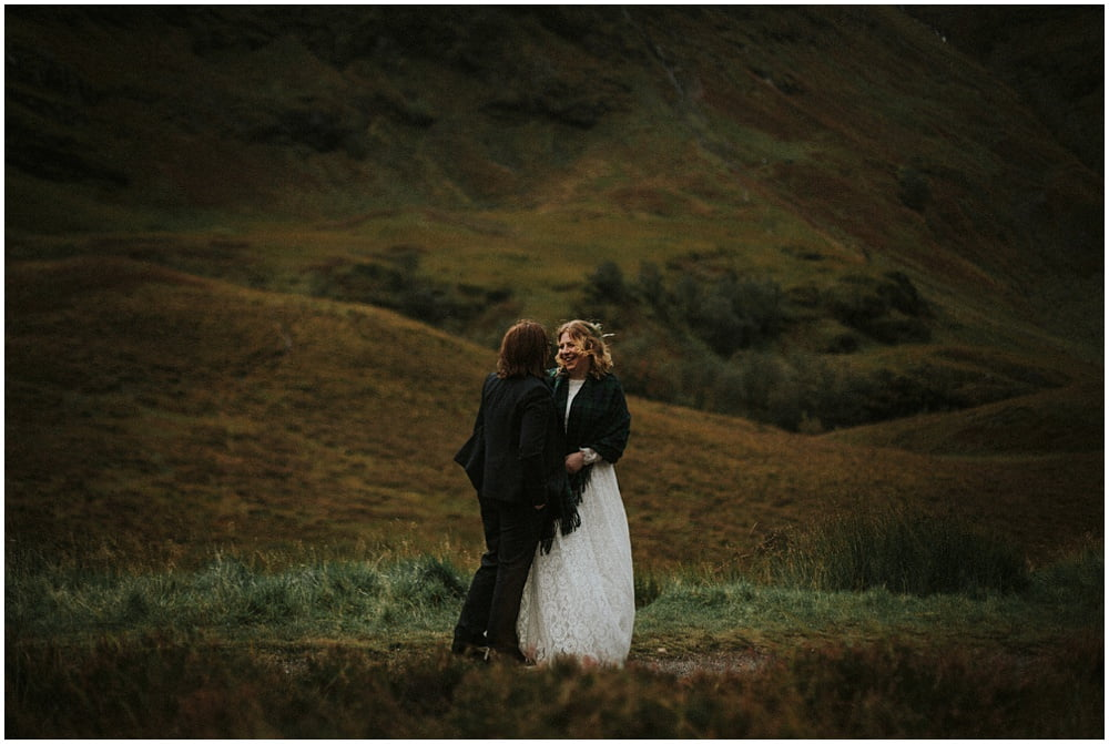 Sarah & Tracey, same sex elopement, Isles of Glencoe Hotel