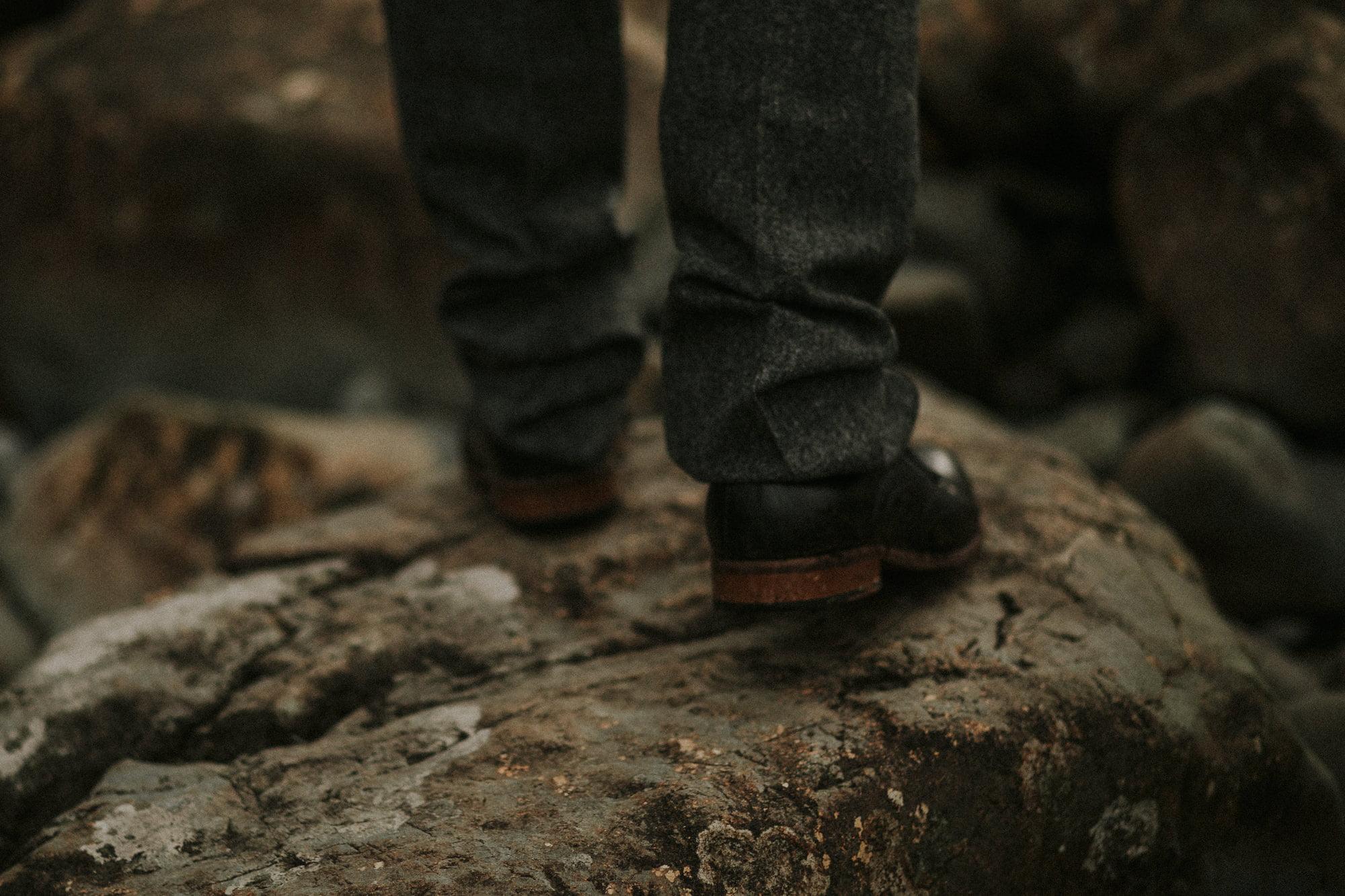 Stephen Wardlaw in Walker Slater man outfit, Isle of Skye Photographer, by Bernadeta Kupiec, Isle of Skye elopement photographer