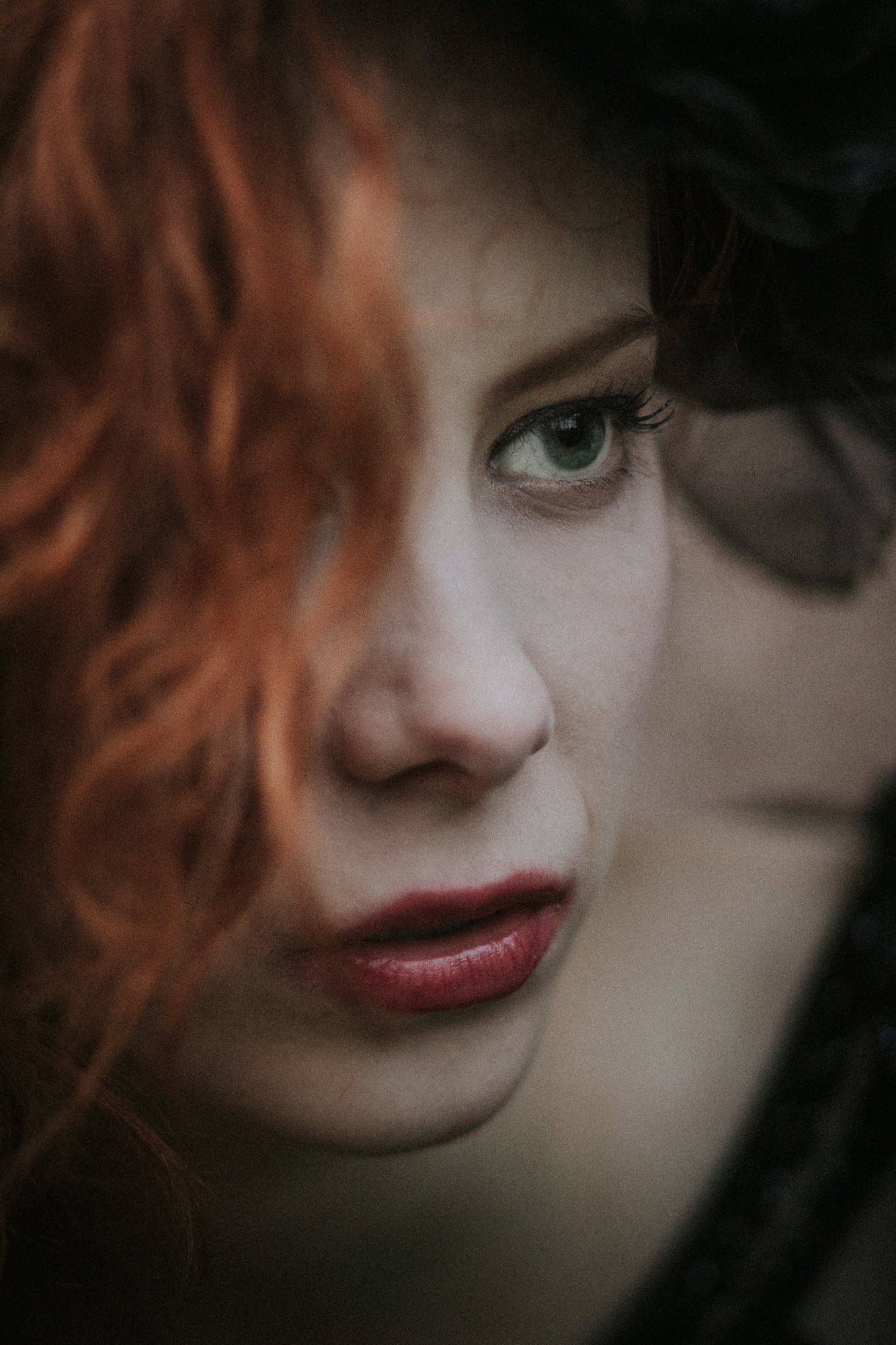 gothic romantic quirky wedding photographer Scotland, black wedding dress