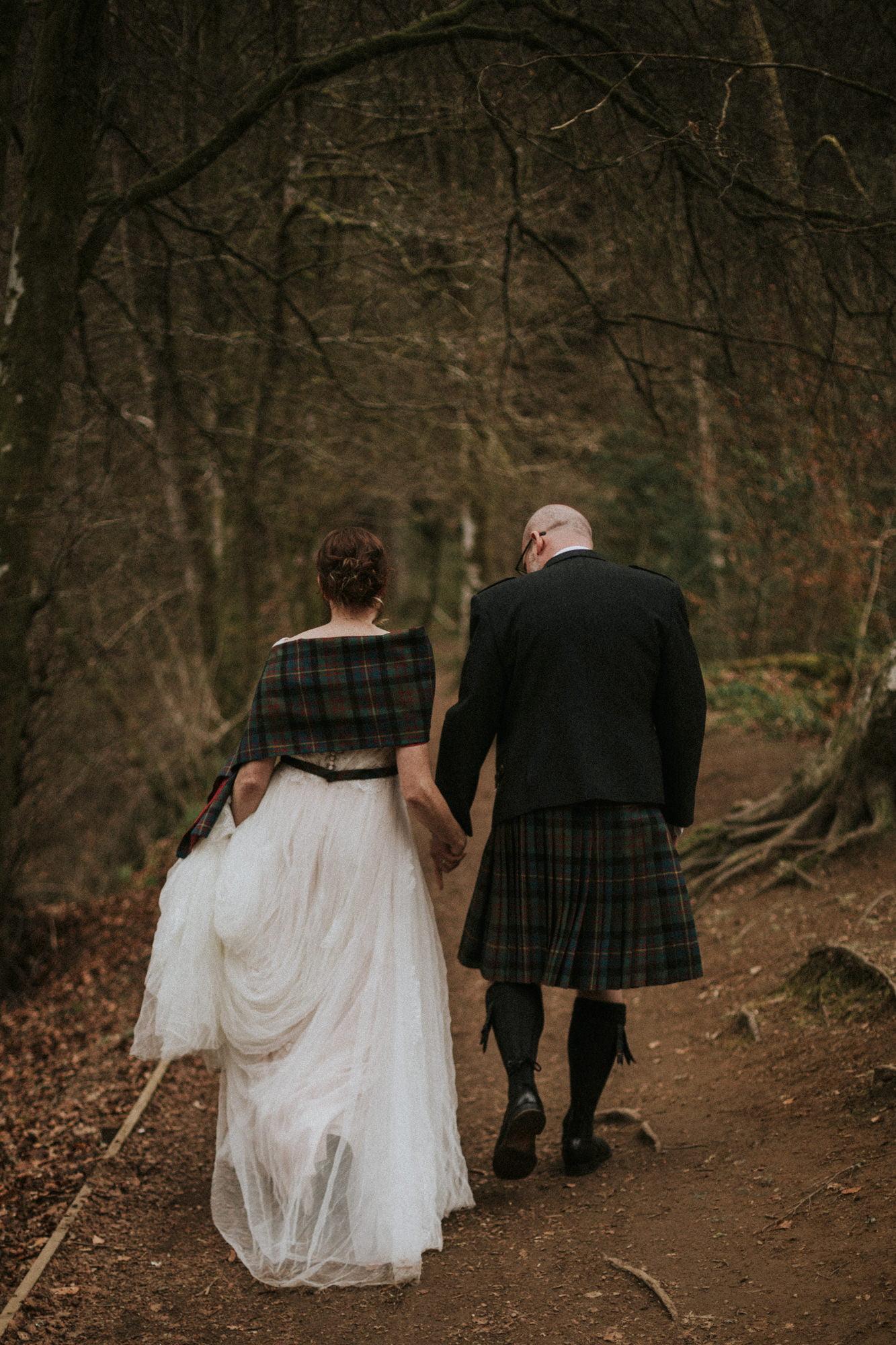 Spring Scotland Forest elopement Scotland, Dunkeld The Hermitage Elopement Photographer, Perthshire elopement photographer