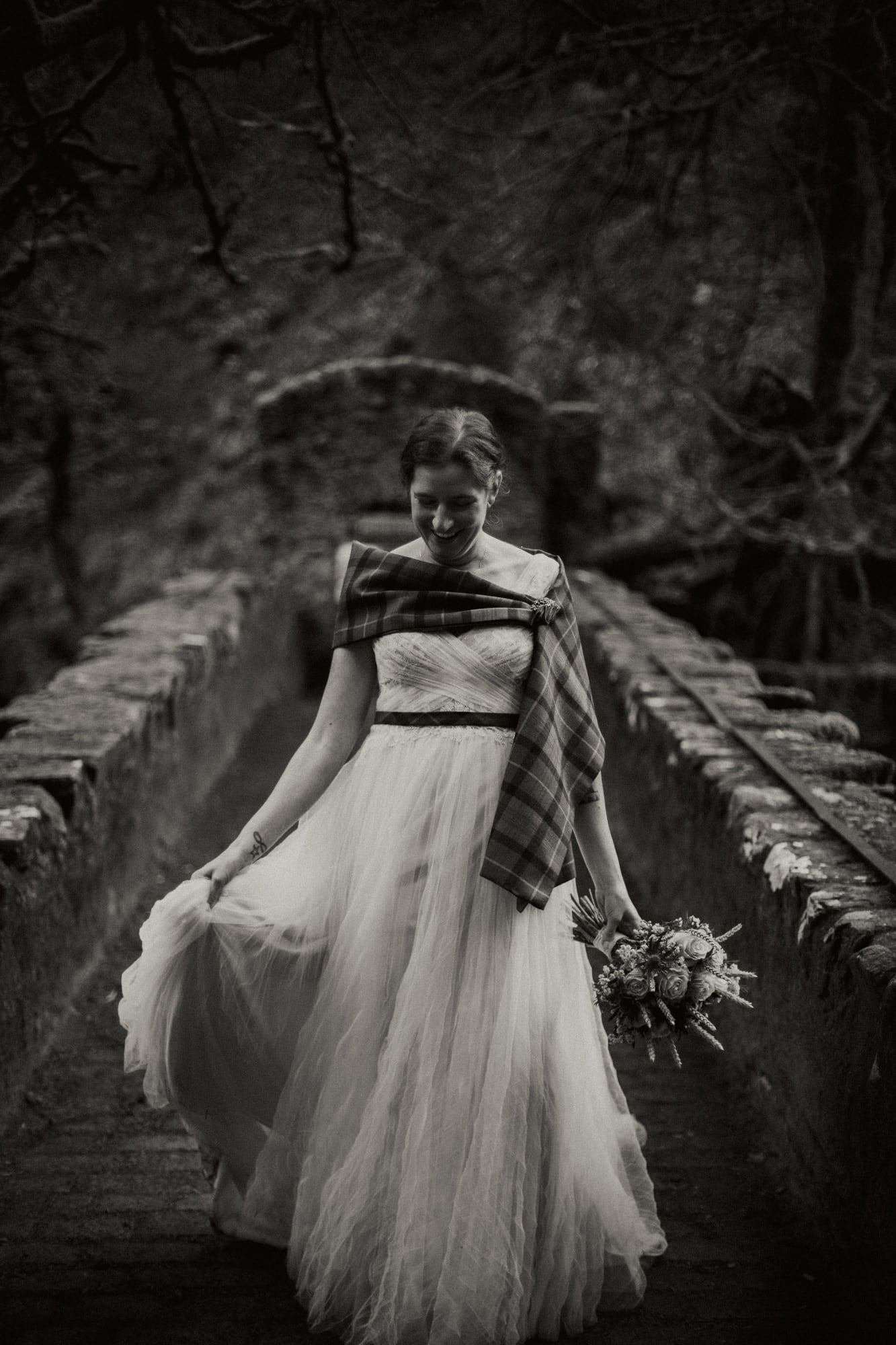 Spring Forest elopement Scotland, Dunkeld The Hermitage Elopement Photographer, Perthshire elopement photographer