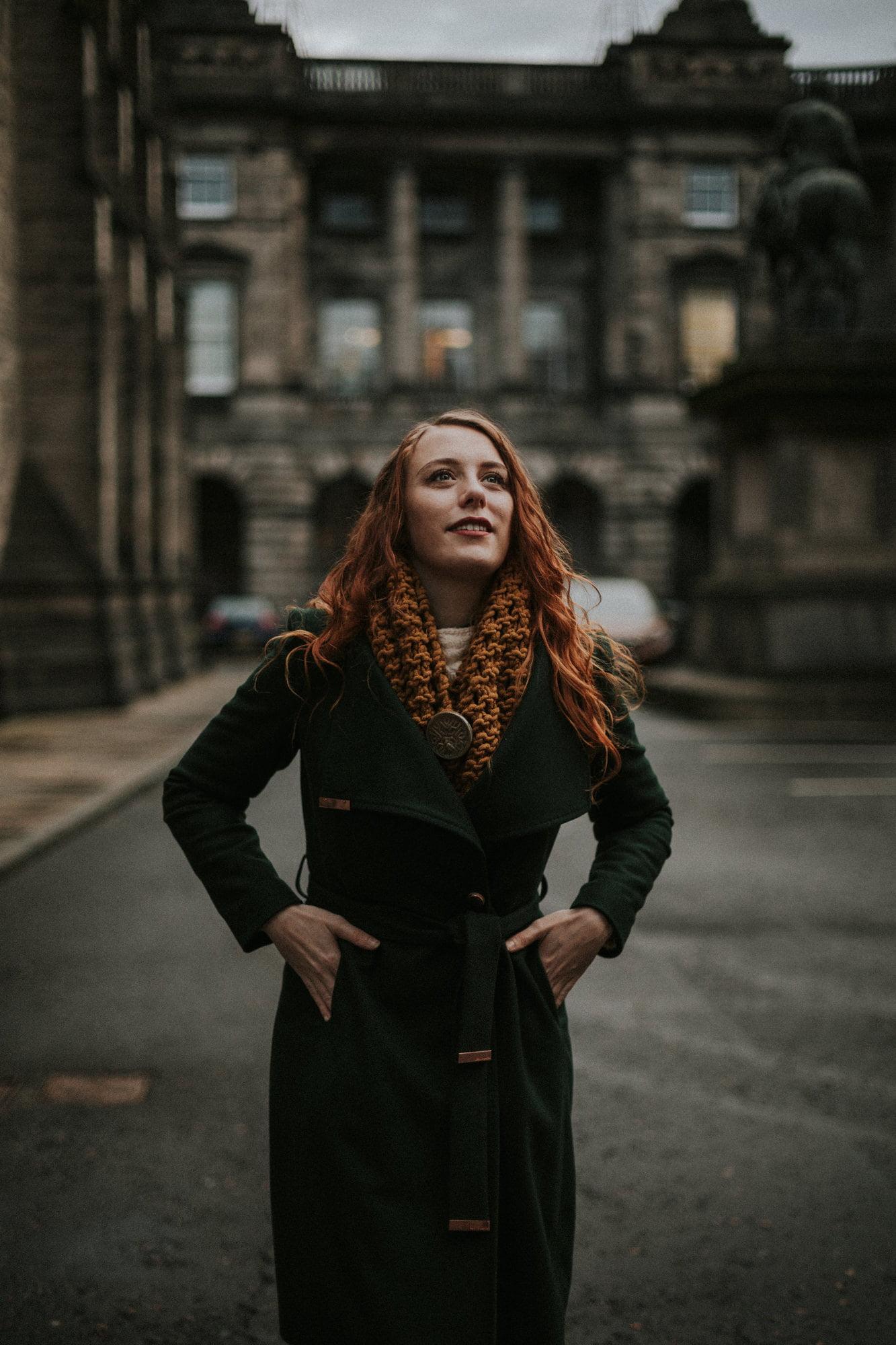 Winter portrait photoshoot in Edinburgh