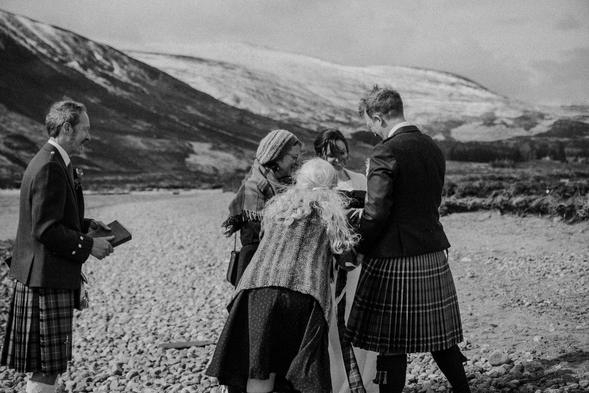 Adventurous Scottish elopement wedding at Loch Muick in the Cairngorms National Park