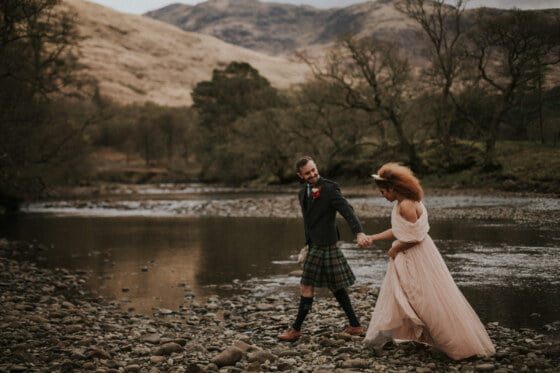 Elopement Photographer Scotland - St Mary's Space, the secret wedding venue in Scottish Highlands