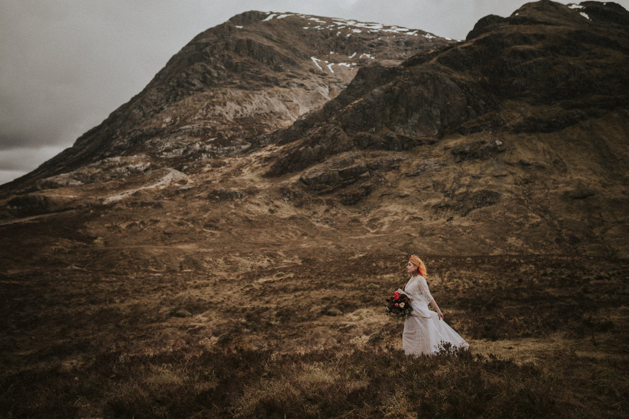 Glencoe boho styled elopement