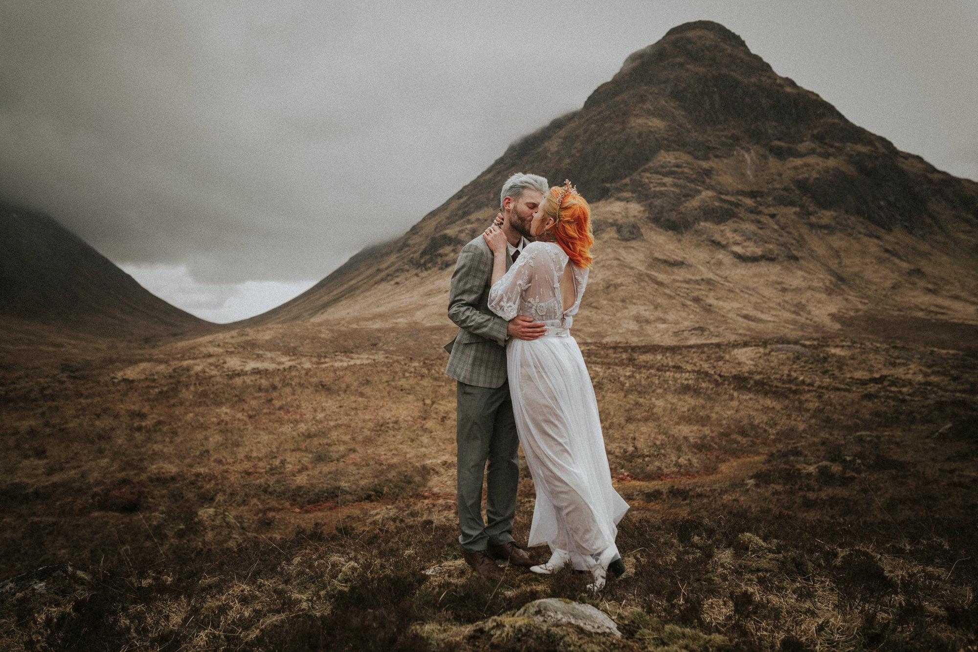 Bohemian Scottish Elopement Wedding in Glencoe