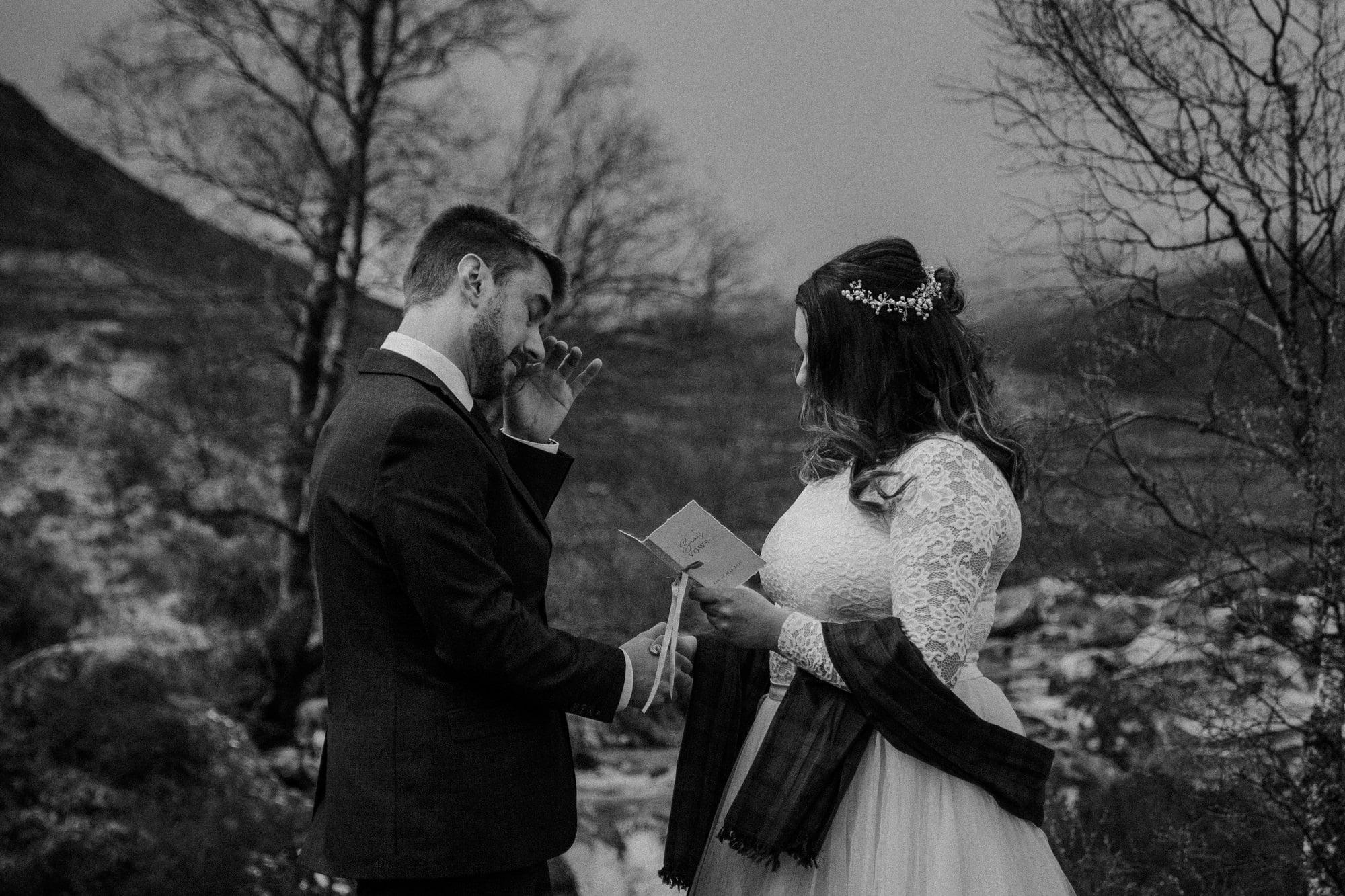 Elopement in Glencoe, Scotland. Intimate wedding in Scotland