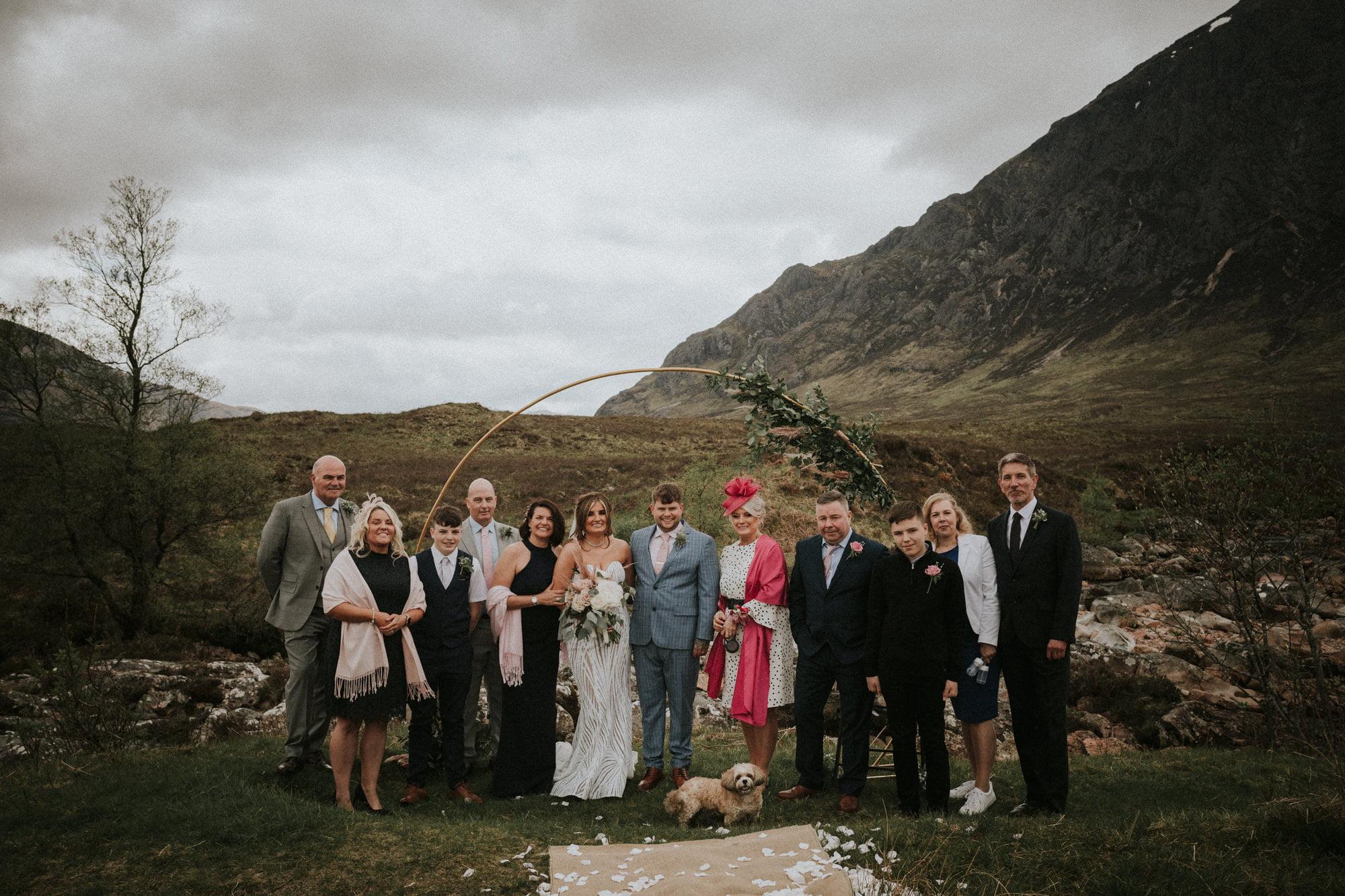 Epic Glen Etive elopement wedding, Highland Wedding