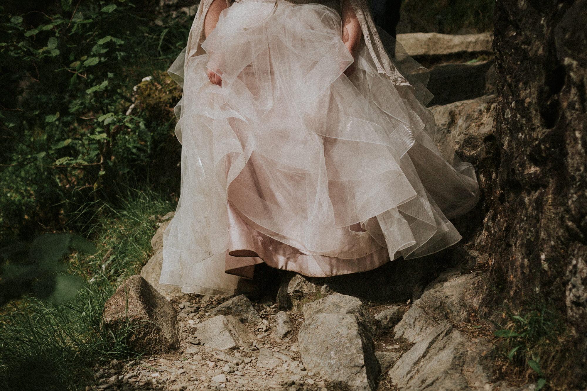 Beautiful Steall Falls Elopement